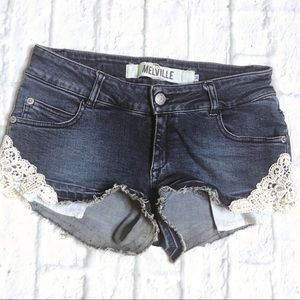 Brandy Melville denim shorts made in Italy